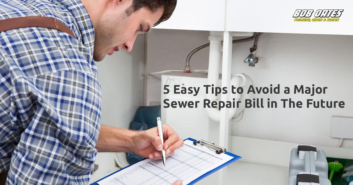 Bob Oates 5 Easy Tips to Avoid a Major Sewer Repair Bill in The Future