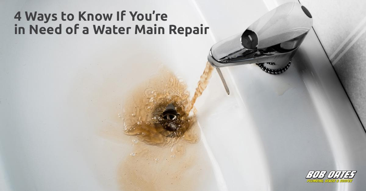4 Ways to Know if You're in Need of a Water Main Repair